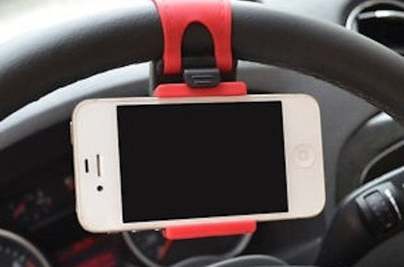 car auto steering wheel iphone cellphone holder mount