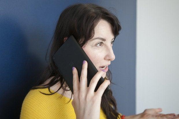 Flo on big phone