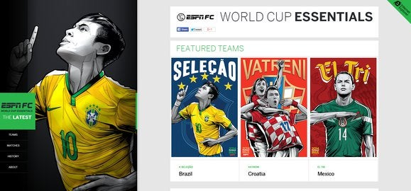 espn world cup site