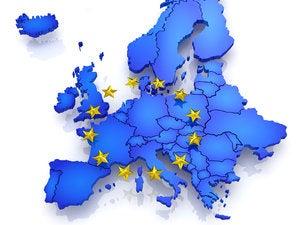 european union map flag