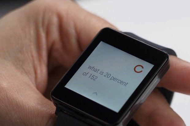 Android Wear video demo with LG G Watch smartwatch