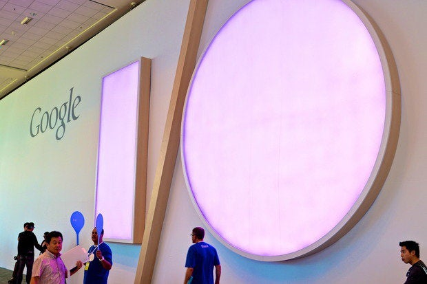 google io 2014 sign purple