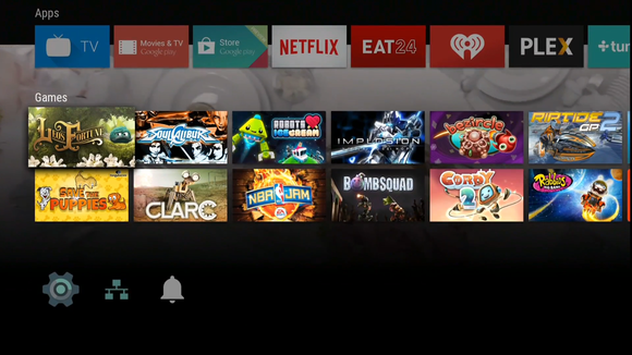 google io android tv interface 3 games