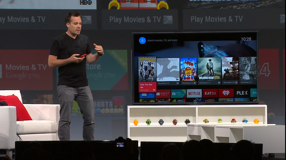 google io android tv interface demo