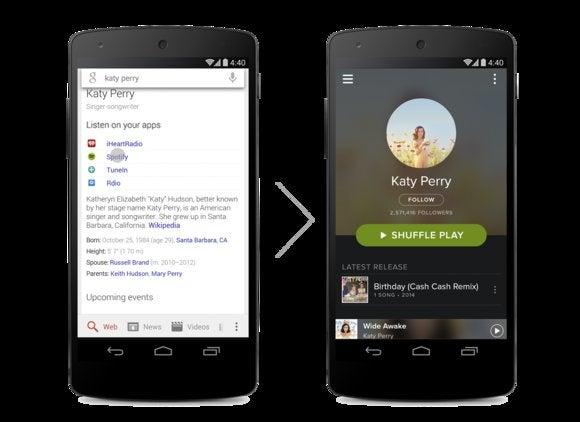 google search music links