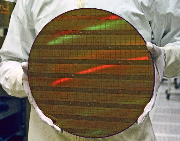 An Intel wafer, used to make chips.