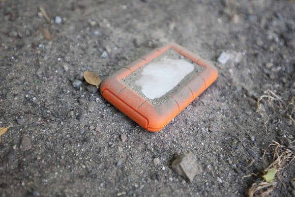 LaCie Rugged Thunderbolt in dirt