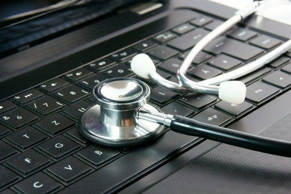 laptop keyboard stethoscope