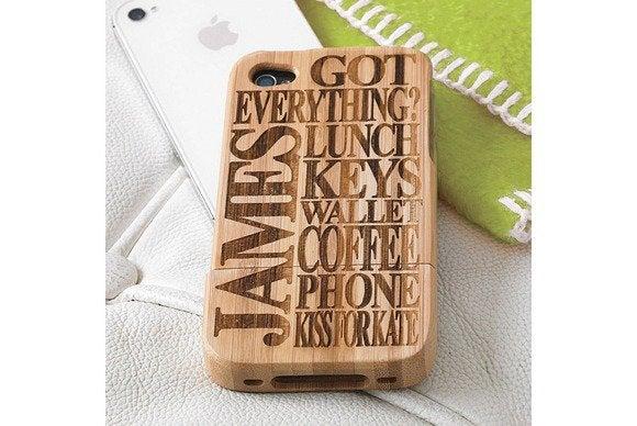 notonthehighstreet wooden iphone