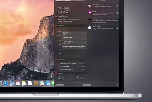 OS X Yosemite New Notification Center Finally Gives Widgets Their