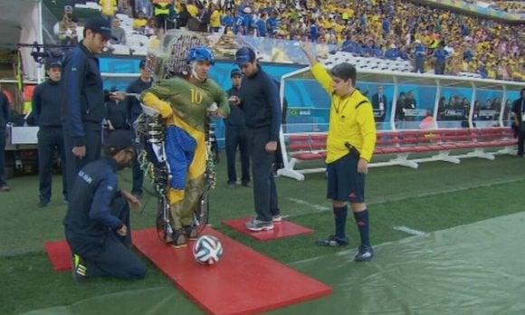 paralyzed man robot suit world cup