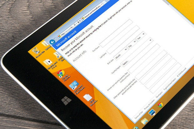 Reset your Windows 8 password if you're locked out