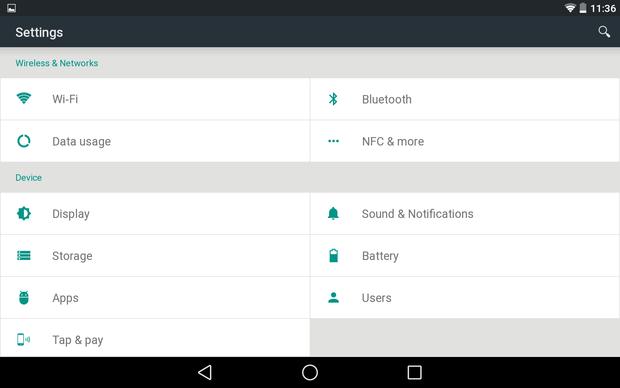 revamped settings
