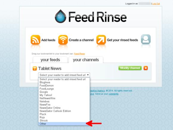 Feed Rinse get XML