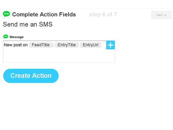 IFTTT SMS trigger