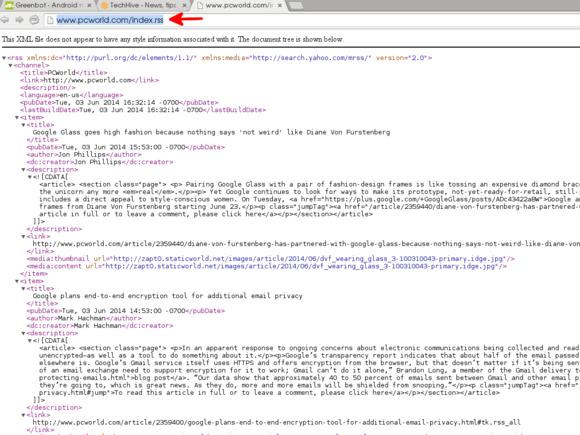 PCWorld RSS URL