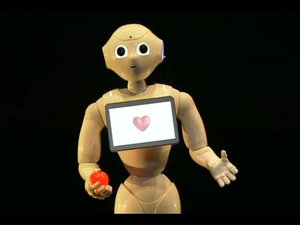 softbank pepper in love robot heart machine