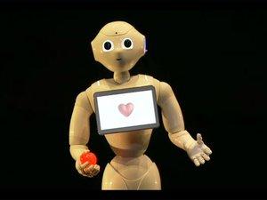 softbank pepper in love robot heart machine