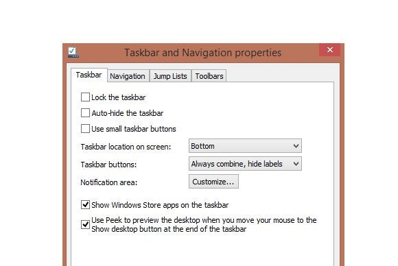 tailor windows taskbar