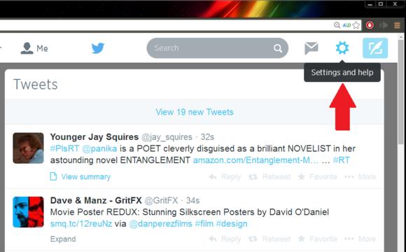 Twitter settings icon