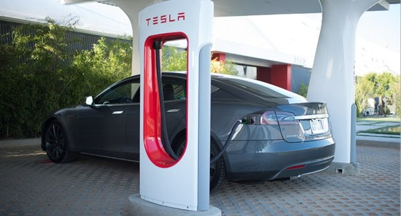 tesla supercharger station tesla model s resized