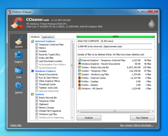 Windows 7 CCleaner remove temporary files