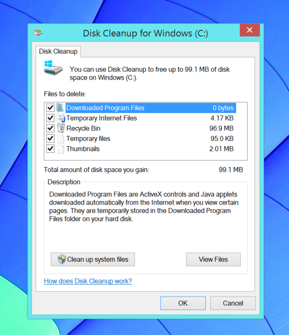 Windows 8 Disk Cleanup