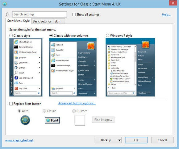 windows 8 top10 questions start menu classic start menu setup