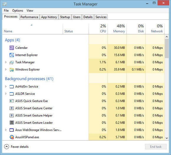 windows 8 top10 questions task manager processes
