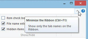 windows 8 top10 questions windows explorer file explorer minimize ribbon