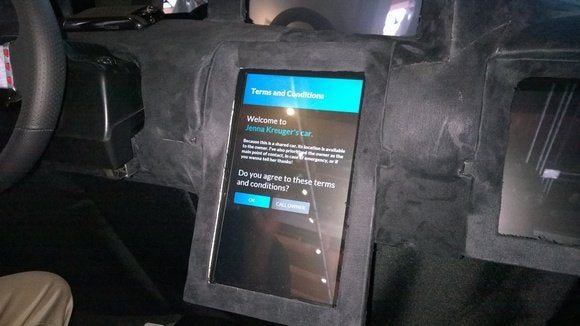 Intel connected car dashboard