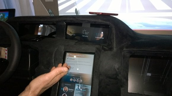 Intel connected car dashboard