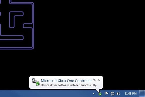 Xbox One controller device ready popup