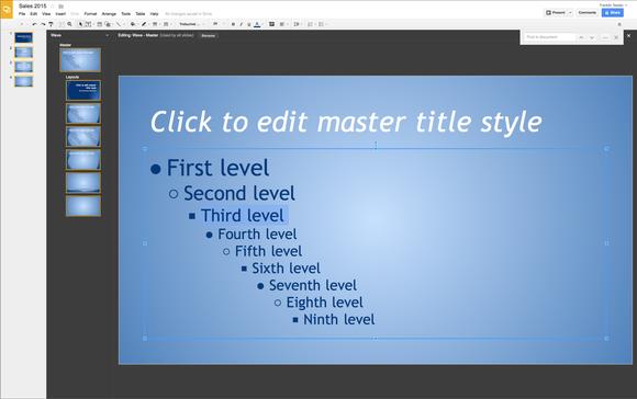 presentations master control