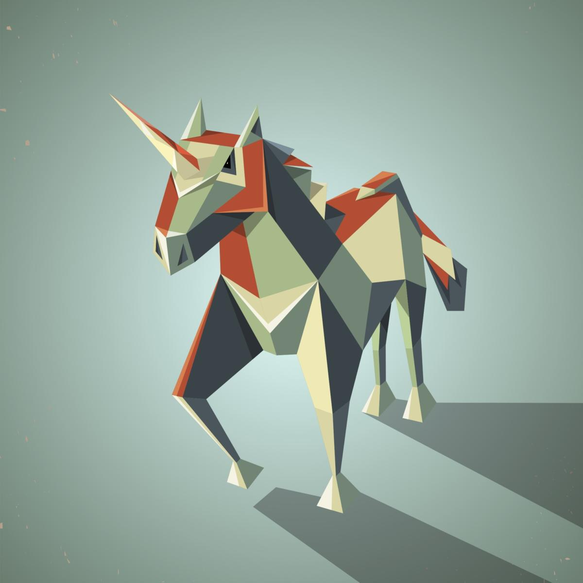 Oragami unicorn