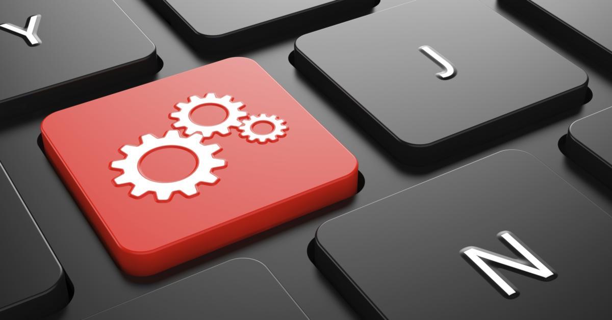 Gears on keyboard