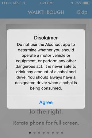 alcohoot disclaimer