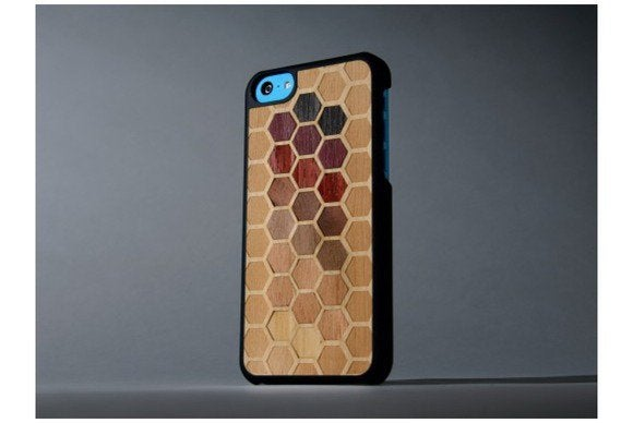 carved hexagon iphone
