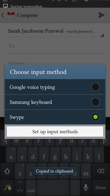 choose input method