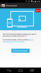 chromecast screen mirrorin