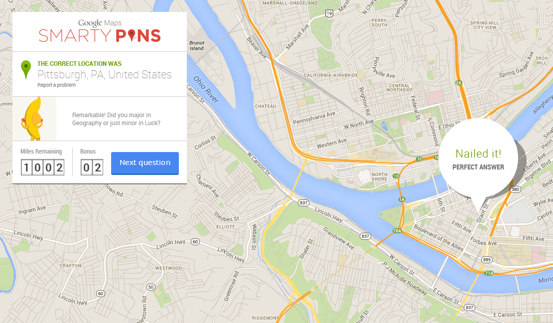 Google's Smarty Pins turns Maps into a game that tests ...