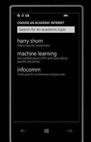 cortana academic research