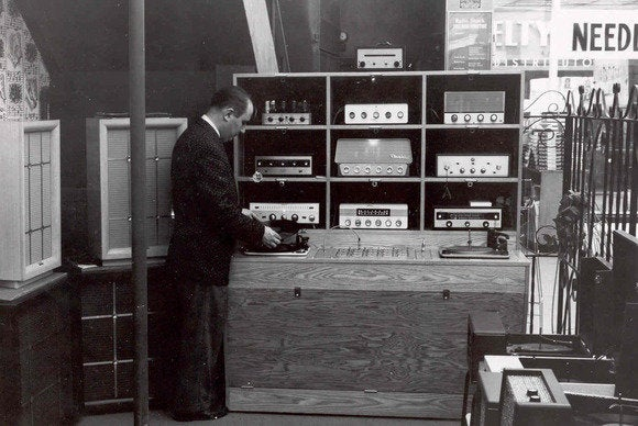 Radio Shack vintage audio room