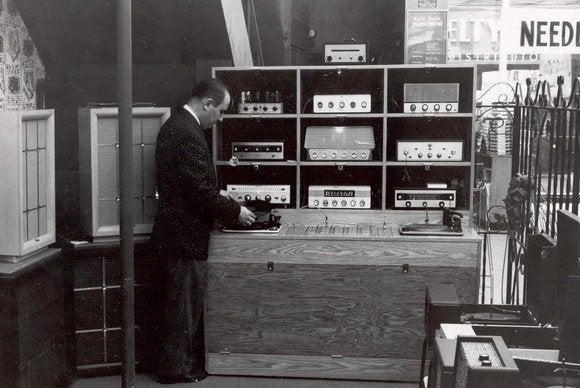 Radio Shack vintage audio room