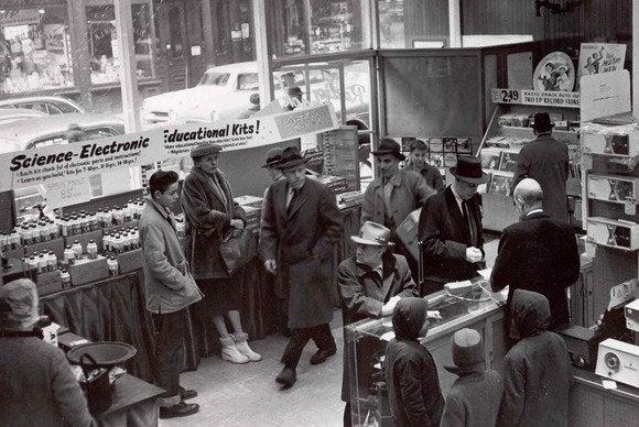 Radio Shack vintage Boston store