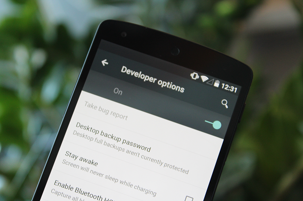 developer options nexus 5