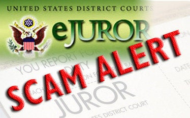 ejuror scam alert