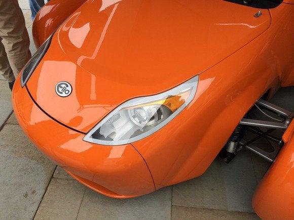 elio car prototype 4 july 2014 headlight detail