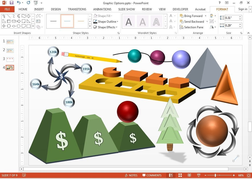 Add sizzle to your PowerPoint presentation with shapes and