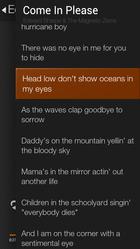 fire phone music lyrics